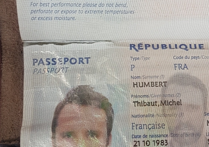 Passeport inutilisable